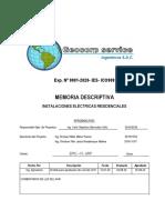 MEMORIA DESCRIPTIVA IE-EPIC-FI-URP (BERMUDEZ,MATOS,RIVADENEYRA)