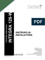 Instrukcja instalatora Integra 128-WRL