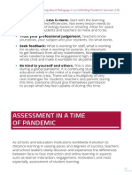Assessment in a Time of Pandemic