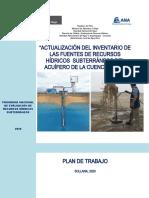 Plan de trabajo_corregido Inventario Acuifero Chira 2020