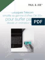 Bouygues Telecom simplifie sa gamme d'offres clé 3G+ pour surfer partout depuis un ordinateur portable