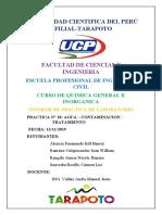 UNIVERSIDAD CIENTIFICA DEL PERÚ informe 10 agua tratada