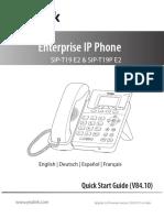 Yealink_SIP-T19 E2 & T19P E2_Quick_Start_Guide_V84_10_DE_ES_FR