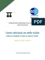 Concreto com entulho reciclado - desempenho em função do consumo de cimento.pdf