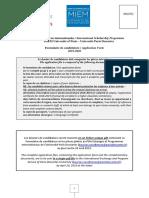 Formulaire MIEM Université Paris Descartes