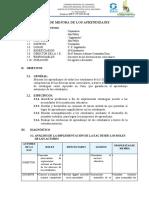 PLAN DE MEJORA DE LOS APRENDIZAJES - ONLINE1