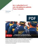 Prescripción y caducidad en el procedimiento disciplinario policial