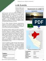 Departamento de Loreto - Wikipedia, la enciclopedia libre