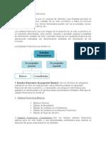 informe de los estados financieros