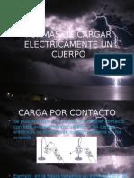 FORMAS DE CARGAR ELECTRICAMENTE UN CUERPO