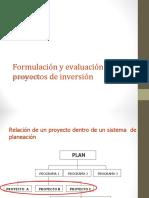Generalidades Formulación y evaluación de proyectos