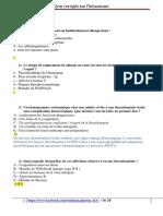 3- QCM corrigés de l'hemostase  Dr ZF