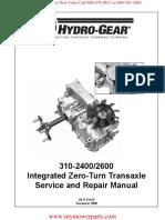 310-2400-2600-Hydro-Gear-Service-and-Repair-Manual