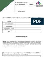 GT 2 (Regional com 4 GTs) - Formulário para Registro dos Debates