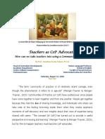[7] Teachers as CoP Advocates