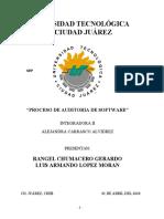 PROCESO DE AUDITORIA DE SOFTWARE