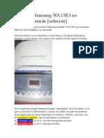 Lavadora Samsung WA13R3 no enciende
