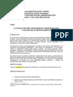 evoluciondelpensamientoadministrativoysusescuelasdepensamiento-140907212629-phpapp01