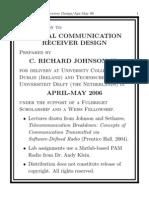 Digital Comm Receiver Design Course Richard Johnson