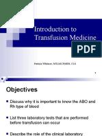 Introduction to Transfusion Medicine
