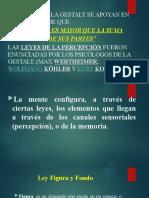 PRINCIPIOS DE LA GESTALT