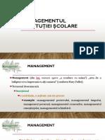XVI_Managementul institutiei