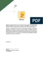 Certificación - FUNDACIÓN AKAPANA