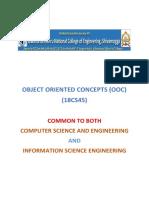 IV SEMESTER OOC (18CS45) NOTES
