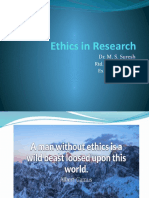 Ethics in Rearch