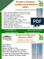 Ventanas y Puertas Corredizas UPVC Ensambladas Sunrise SET 2013 (1)