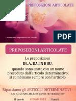 LE PREPOSIZIONI ARTICOLATE2