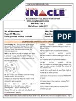 857 Question Paper math