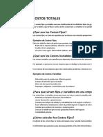 COSTOS TOTALES (1)