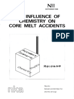 Influence of chemistry on core melt accidents