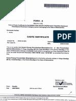 caste certificate pranay