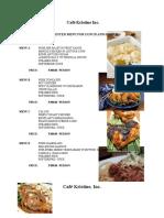 menu suggestions-III