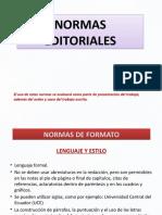 13 NORMAS EDITORIALES