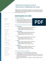 Informações dos Resultados Trimestrais JBS JBSS3 2t20 2020