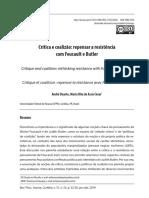 Crítica e coalizão. repensar a resistência com Foucault e Butler