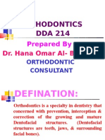 ORTHODONTICS (DDA214)