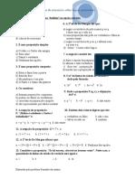 teste 1. matematica VB