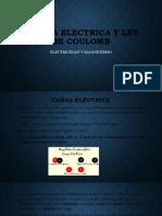 LEY DE COULOMB Y  FUERZA ELECTRICA