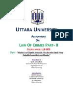 Penal Code Part-II Mid term