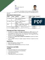 Arif CV Prescribed by Monir Sir Format-02