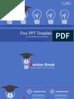Smart Graduation Hat PowerPoint Templates