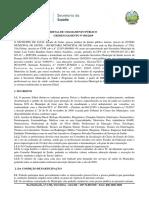 EDITAL DE CHAMAMENTO PÚBLICO Nº 001-2019
