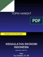 Nasib Kedaulatan Ekonomi Indonesia