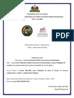 Archives Nationales d'Haïti et processus de modernisation