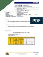 Informe Caex 913, Flushing Hidraúlico