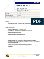 Informe Caex 818 cambio de blower 2